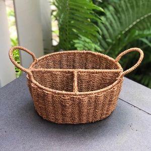 Wicker divided basket